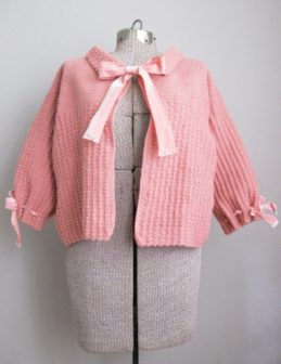 Pink Knit Bed Jacket